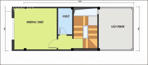 Nhà ống 4 tầng thiết kế lệch tầng hiện đại 45m2. 5