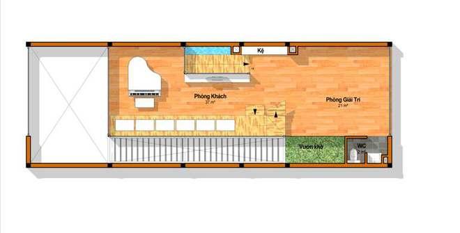 Tầng 3 - Nhà ống 4 tầng hiện đại