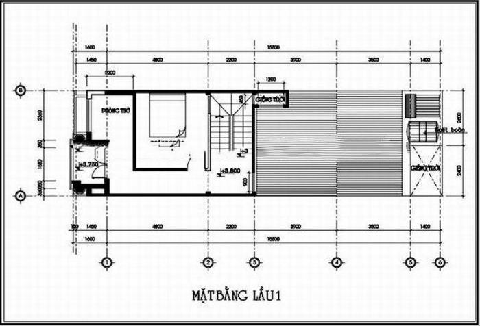 Nhà ống hiện đại 2 tầng 5x8,5m chi phí 600 triệu. 2