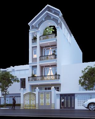 Bản thiết kế nhà ống 3 tầng hoàn hảo cho gia đình hiện đại
