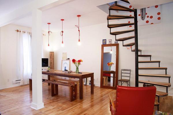 Mẫu thiết kế cầu thang đẹp dành cho nhà ống - ảnh 1