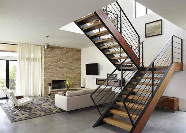 Mẫu thiết kế cầu thang đẹp dành cho nhà ống - ảnh 4