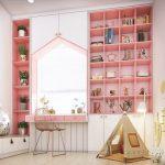 Phòng ngủ bé gái màu hồng dễ thương và hiện đại- Xu hướng mới năm 2020
