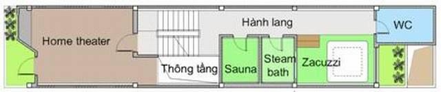 Thiết kế mẫu nhà ống 4 tầng hiện đại 80m2. 3