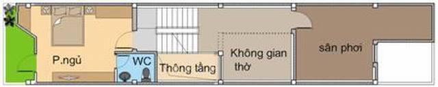 Thiết kế mẫu nhà ống 4 tầng hiện đại 80m2. 4