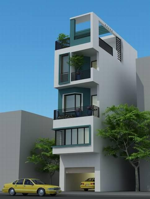 Thiết kế mẫu nhà ống 4 tầng hiện đại 80m2