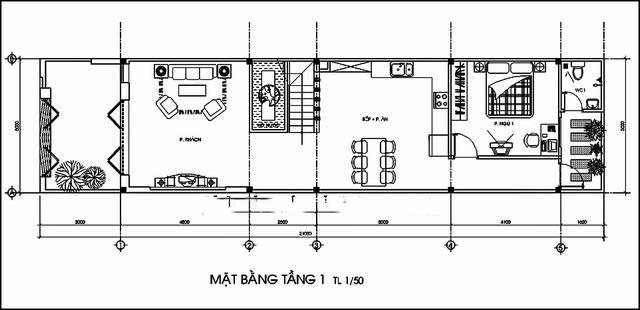 Thiết kế mẫu nhà ống 2 tầng độc đáo. 1