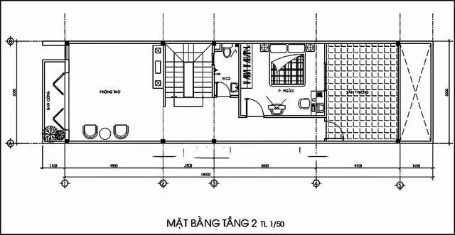 Thiết kế mẫu nhà ống 2 tầng độc đáo. 2