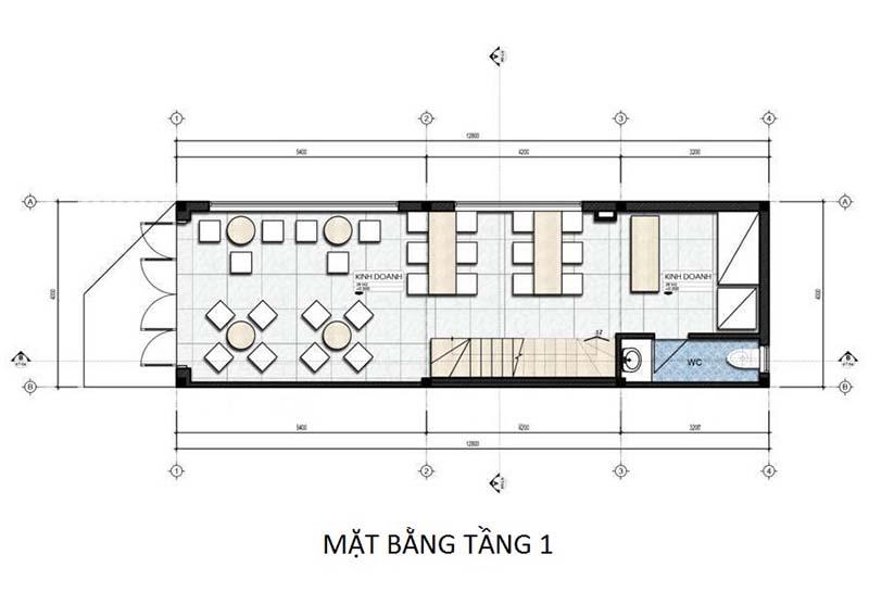 thiết kế mẫu nhà ống 3 tầng đẹp