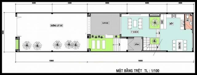 Thiết kế mẫu nhà ống 3 tầng kiến trúc Châu Âu. 1