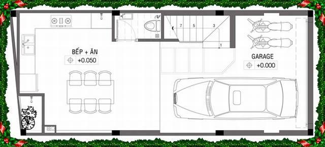 Thiết kế mẫu nhà ống 4 tầng diện tích 4x10m. 1