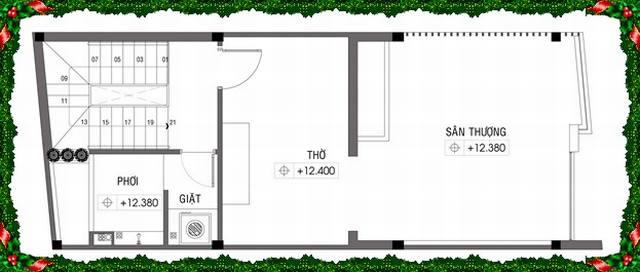 Thiết kế mẫu nhà ống 4 tầng diện tích 4x10m. 4