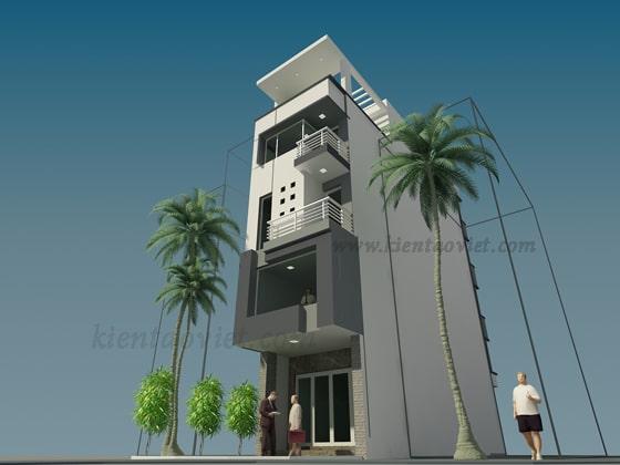 Thiết kế mẫu nhà ống 5 tầng 7