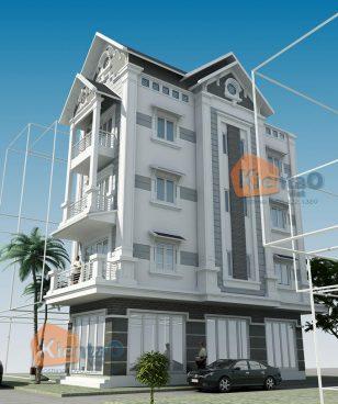 Thiết kế mẫu nhà ống 5 tầng và 4 tầng đẹp