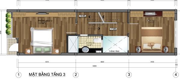 Thiết kế mẫu nhà ống 5 tầng diện tích 4x14m. 3