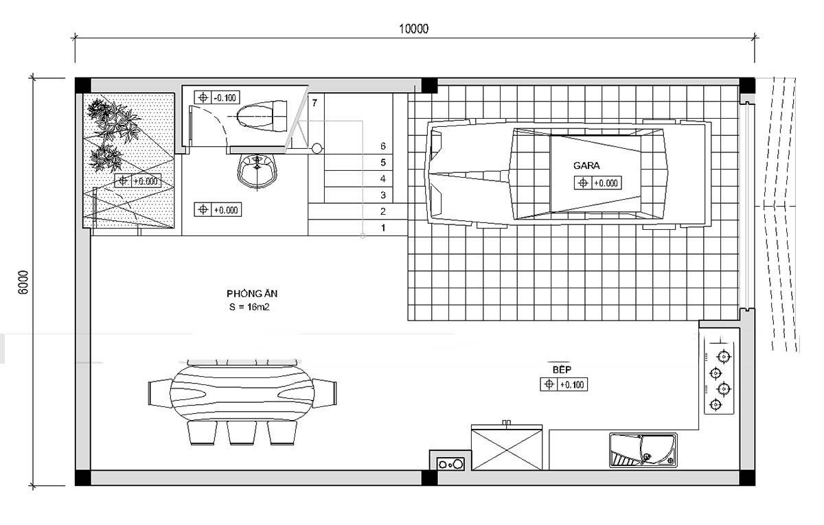 Thiết kế mẫu nhà ống 5 tầng thoáng mát. 1
