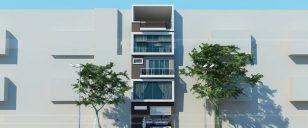 Thiết kế mẫu nhà ống 5 tầng thoáng mát