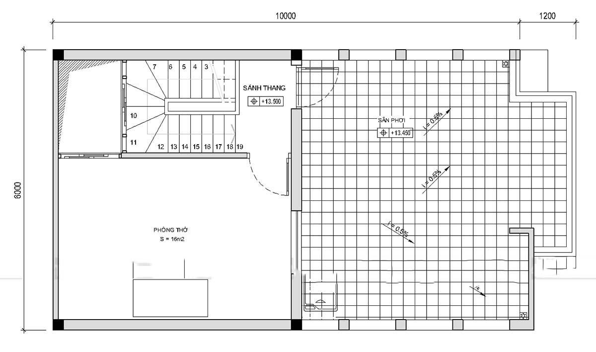 Thiết kế mẫu nhà ống 5 tầng thoáng mát. 5