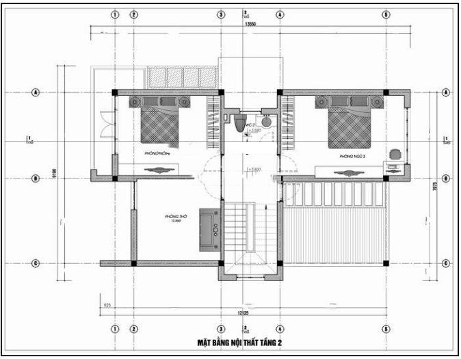 Thiết kế nhà ống 2 tầng hiện đại 7x13m. 2