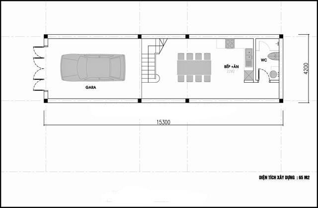 Mặt bằng công năng mẫu thiết kế nhà ống 3 tầng ấn tượng - 1
