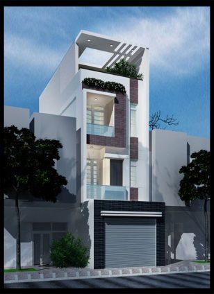 Thiết kế nhà ống 3 tầng ấn tượng phong cách hiện đại