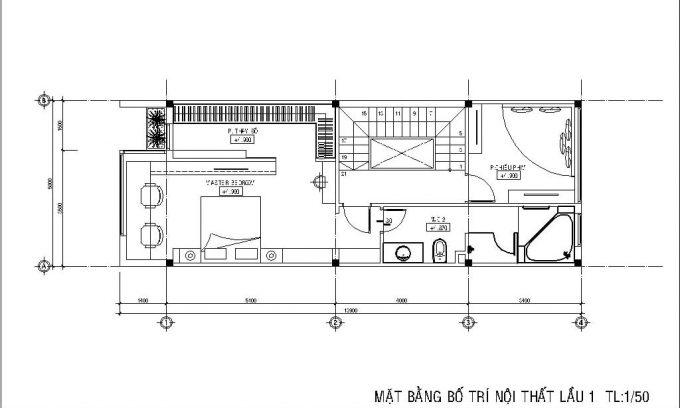 Mặt bằng công năng của thiết kế nhà ống 3 tầng có hầm - 3