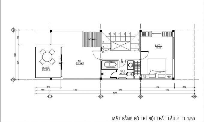Mặt bằng công năng của thiết kế nhà ống 3 tầng có hầm - 4