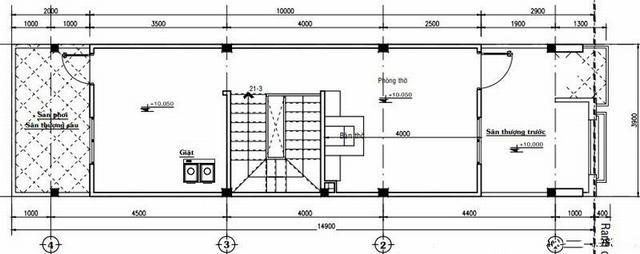 Mặt bằng mẫu thiết kế nhà ống 3 tầng giá rẻ hiện đại - 3