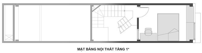 Mặt bằng công năng mẫu thiết kế nhà ống 3 tầng lệch hiện đại - 2
