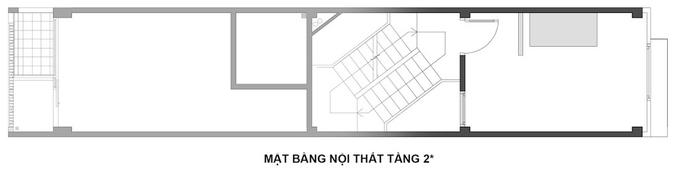 Mặt bằng công năng mẫu thiết kế nhà ống 3 tầng lệch hiện đại - 4