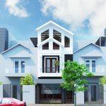 Thiết kế nhà ống 3 tầng mái thái mặt tiền 5m ở Quảng Trị