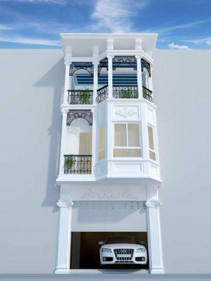 Thiết kế nhà ống 3 tầng tân cổ điển đẹp tinh tế