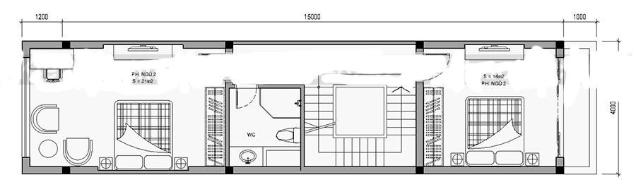 Thiết kế nhà ống 4 tầng diện tích 4x15m. 3