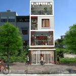 Thiết kế nhà ống 4 tầng hiện đại sang trọng ở Nam Định