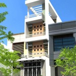 Thiết kế nhà ống 4 tầng hiện đại thoáng mát