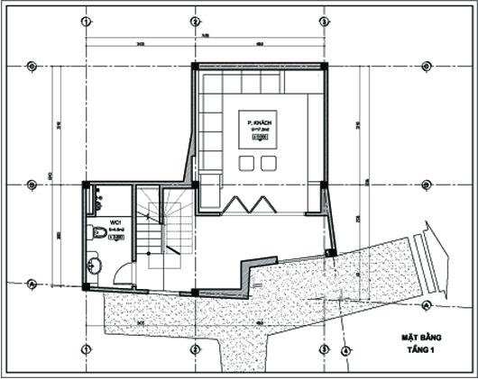 Thiết kế nhà ống 5 tầng 43m2 trẻ trung. 1