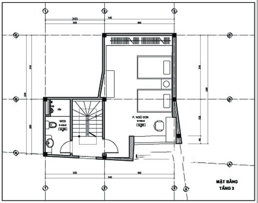 Thiết kế nhà ống 5 tầng 43m2 trẻ trung. 3