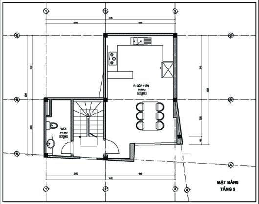 Thiết kế nhà ống 5 tầng 43m2 trẻ trung. 5