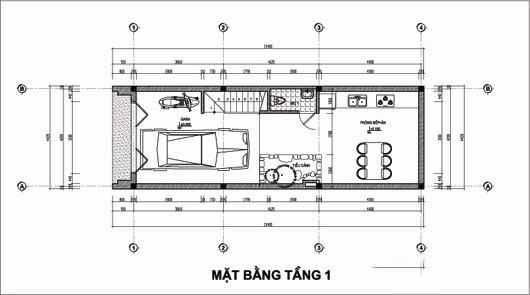 Thiết kế nhà ống 5 tầng 4,4x14,7m. 1