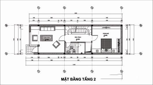 Thiết kế nhà ống 5 tầng 4,4x14,7m. 2