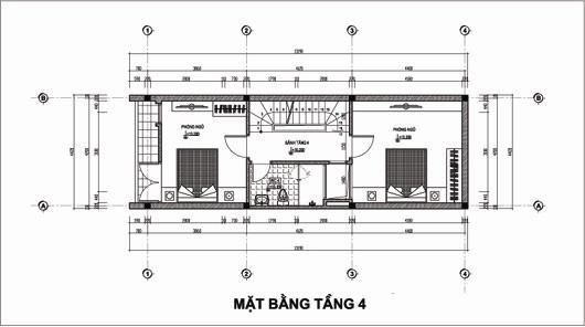 Thiết kế nhà ống 5 tầng 4,4x14,7m. 4
