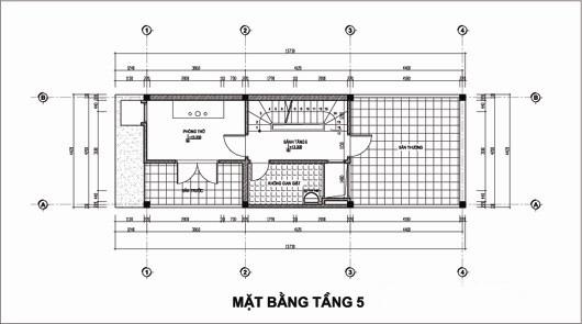 Thiết kế nhà ống 5 tầng 4,4x14,7m. 5