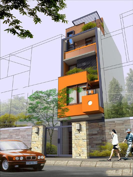 Thiết kế nhà ống 5 tầng 4,4x14,7m