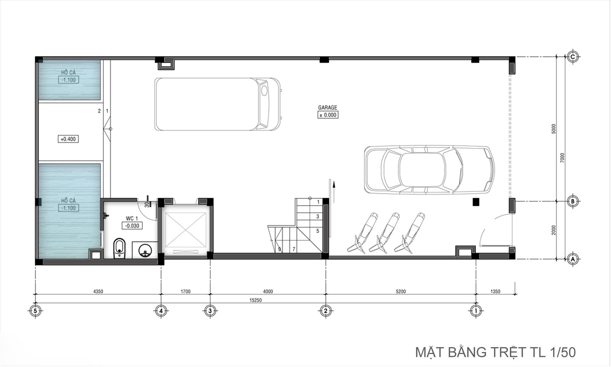 Thiết kế nhà ống hiện đại 3 tầng 7x15m công năng linh hoạt - 3