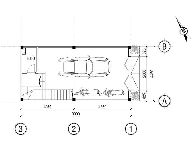 Mặt bằng công năng khoa học của thiết kế nhà ống 3 tầng tân cổ điển - 1