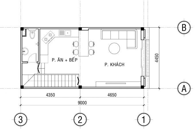 Mặt bằng công năng khoa học của thiết kế nhà ống 3 tầng tân cổ điển - 2
