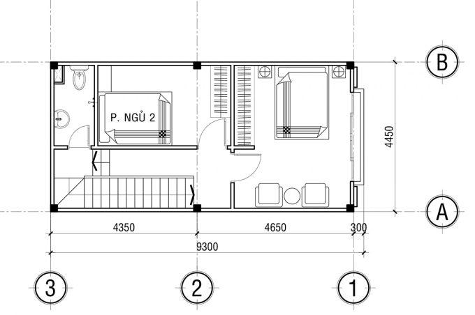 Mặt bằng công năng khoa học của thiết kế nhà ống 3 tầng tân cổ điển - 3