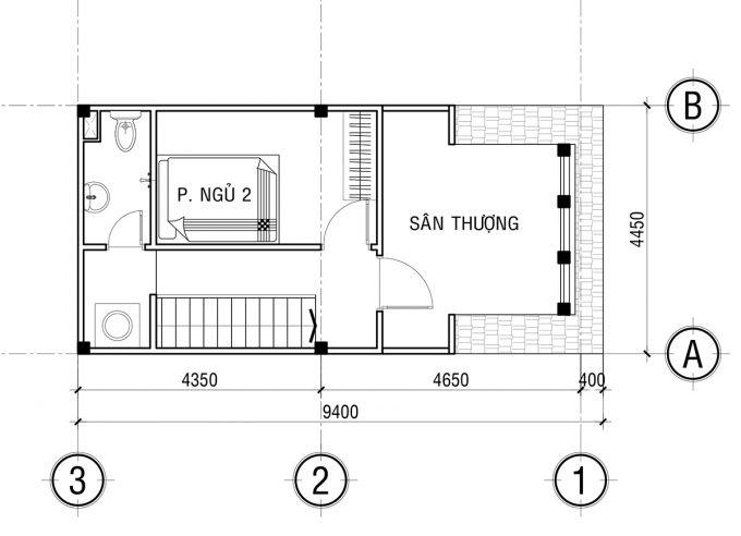 Mặt bằng công năng khoa học của thiết kế nhà ống 3 tầng tân cổ điển - 4