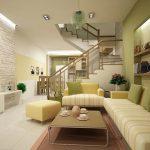 Phòng khách nhà ống 5m- Phòng khách nhà ống có cầu thang