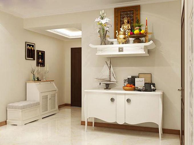 Thiết kế nội thất phòng thờ nhà ống nở hậu 3 tầng 4.5x16m phong cách hiện đại